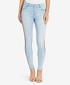 Skinny Red Stripe Embellished Jean