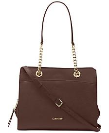 Calvin Klein Hayden Saffiano Leather Tote
