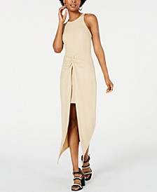 Juniors' Rib-Knit Open-Front Overskirt Dress, Created for Macy's