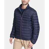 Tommy Hilfiger Men's Down Quilted Packable Logo Jacket (various colors)