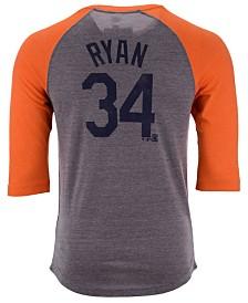 Majestic Men's Nolan Ryan Houston Astros Coop Batter Up Raglan T-Shirt