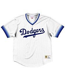 Mitchell & Ness Men's Los Angeles Dodgers Mesh V-Neck Jersey