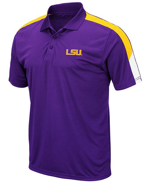 Colosseum Men's LSU Tigers Color Block Polo