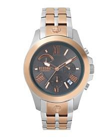Versus Men's Two Tone Stainless Steel Bracelet Watch 22mm