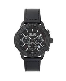 Versus Men's Black Strap Watch 22mm
