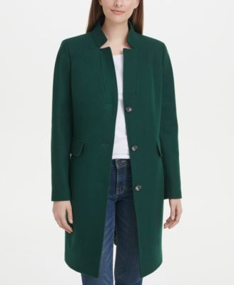 Stand-Collar Reefer Coat, Created for Macy's