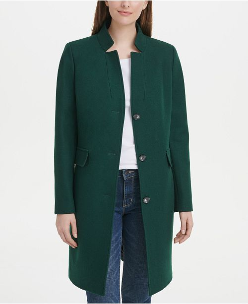 DKNY Petite Stand-Collar Coat, Created for Macy's
