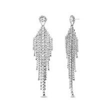 Steve Madden Women's Chandelier Silver-Tone Earrings