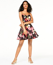 Juniors' Strapless Sweetheart Dress