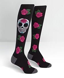 Knee High Sugar Skull Socks