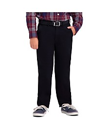 Haggar Husky Boys Sustainable Chino, Reg Fit, Flat Front Pant