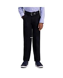 Husky Boys Premium No Iron Khaki, Slim Fit, Flat Front Pant