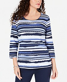 Studded Striped Top, Created for Macy's