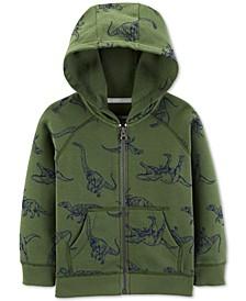 Baby Boys Dinosaur-Print Fleece Hoodie