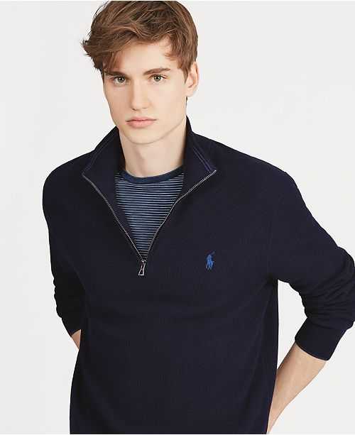 Polo Ralph Lauren Men's Textured Quarter-Zip Sweater