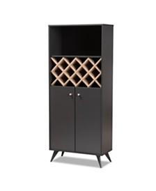 Serafina Wine Cabinet, Quick Ship