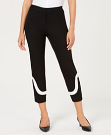 Alfani Petite Colorblocked Ankle Pants, Created for Macy's