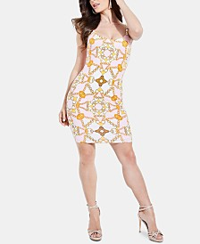 GUESS Malaya Printed Hardware-Detail Dress