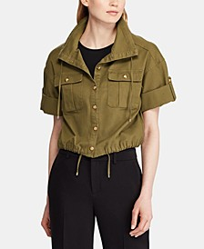 Petite Canvas Drawcord Jacket