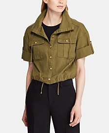 Lauren Ralph Lauren Petite Canvas Drawcord Jacket