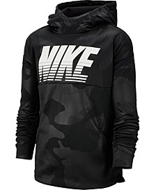 Big Boys Therma Dri-FIT Camo-Print Hoodie