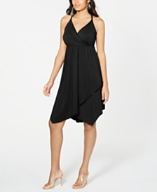 I.N.C. Solid Crisscross Ring Dress, Created for Macy's