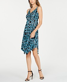 I.N.C. Petite Ikat Crisscross Ring Dress, Created for Macy's