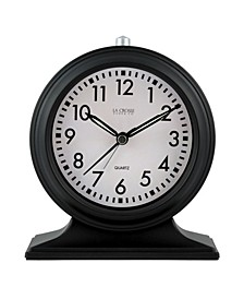 La Crosse Clock Silent Sweep Black Mantel Alarm Clock