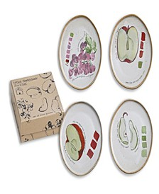 Farm to Table Fruit Plates Set of 4