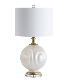 """JONATHAN Y Lucette 26.5"""" Glass/Crystal LED Table Lamp"""