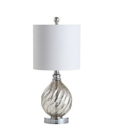 "Lawrence 20.5"" Glass/Metal LED Table Lamp"