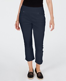 I.N.C. Curvy Pull-On Skinny Cropped Pants, Created for Macy's