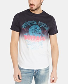 Buffalo David Bitton Men's Tishade Dip Dyed Graphic T-Shirt
