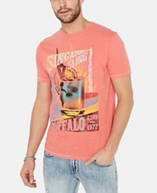 Buffalo David Bitton Men's Tuala Singapore Sling Graphic T-Shirt