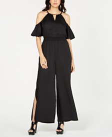 Thalia Sodi Cold-Shoulder Wide-Leg Jumpsuit, Created for Macy's