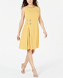 Petite Grommet-Waist Dress, Created for Macy's