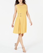 34903fc1ad JM Collection Petite Grommet-Waist Dress, Created for Macy's