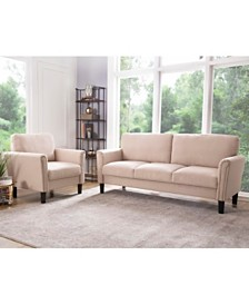 Aurora Sofa & Arm Chair Collection, Quick Ship