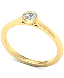 Diamond Bezel Solitaire Ring (1/5 ct. t.w.) in 14k Gold