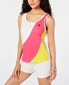 Knotted Colorblock Sleeveless Top
