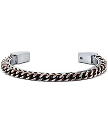 Chain Design Cuff In Copper Two-Tone Stainless Steel