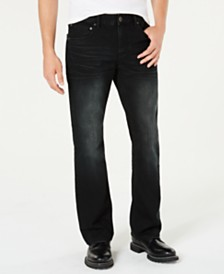I.N.C. Men's Black Bootcut Jeans, Created for Macy's