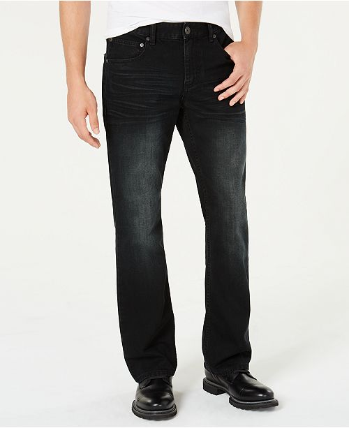 INC International Concepts INC Men's Black Bootcut Jeans, Created for Macy's