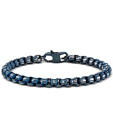 Link Chain Bracelet In Blue-Tone Stainless Steel