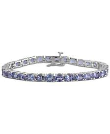 Tanzanite Tennis Bracelet (11-1/2 ct. t.w.) in Sterling Silver