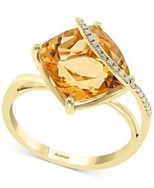 EFFY® Citrine (6-1/2 ct. t.w.) & Diamond Accent Statement Ring in 14k Gold