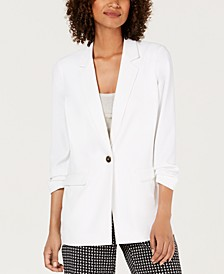Petite 3/4-Sleeve Blazer, Created for Macy's