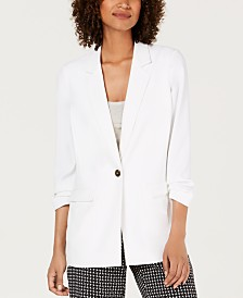 Alfani Notch-Collar One-Button Jacket, Created for Macy's
