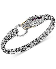 EFFY® Certified Ruby Dragon Statement Bracelet (1/6 ct. t.w.) in Sterling Silver & 14k Gold-Plate