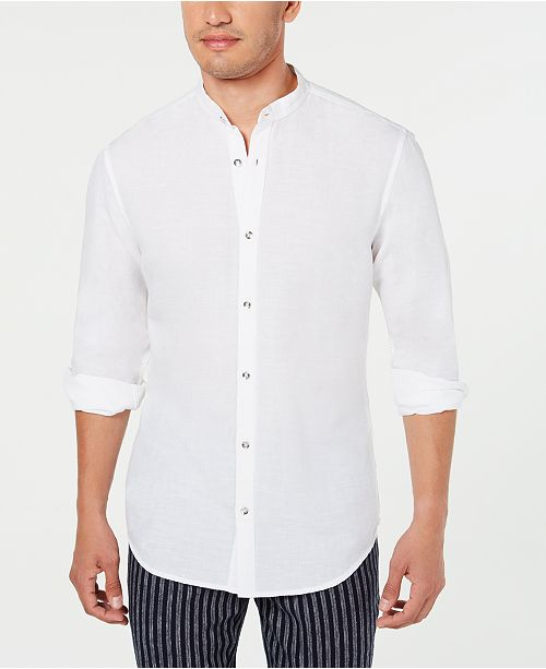 INC International Concepts I.N.C. Men's Band Collar Shirt, Created for Macy's